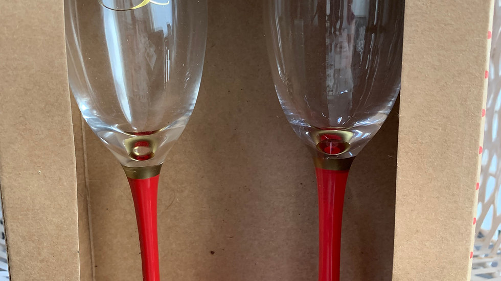 Beauty & The Beast Flute Glasses