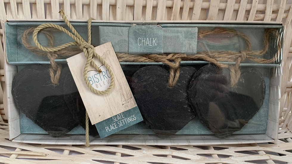 Slate Place Settings with Chalk