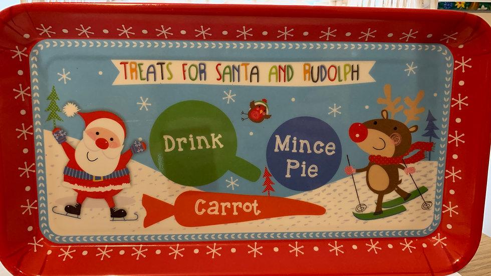 Santa Treats Melamine Tray