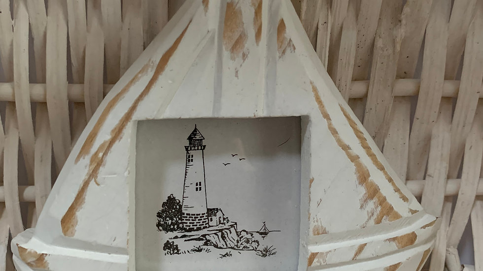 Boat Shaped Wooden Photo Frame