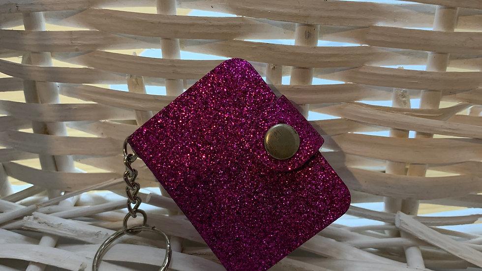 Mini Keyring Glitter Notebook