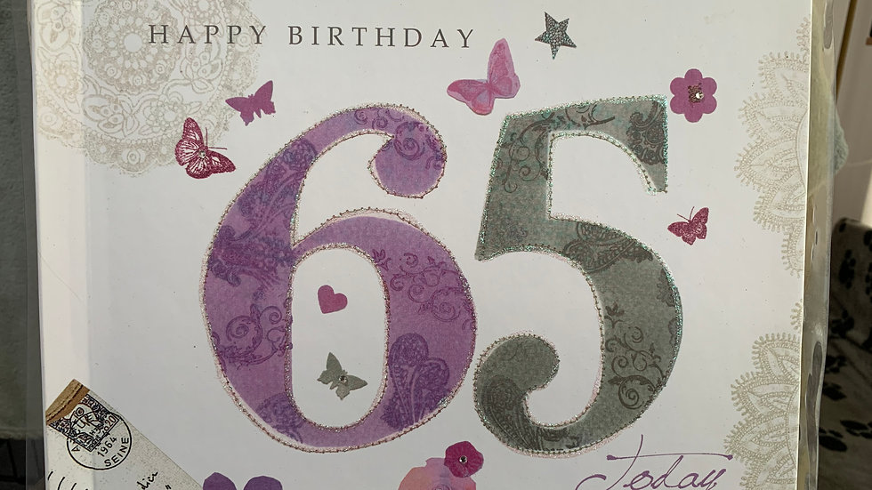 65th Birthday Memory Book/Album