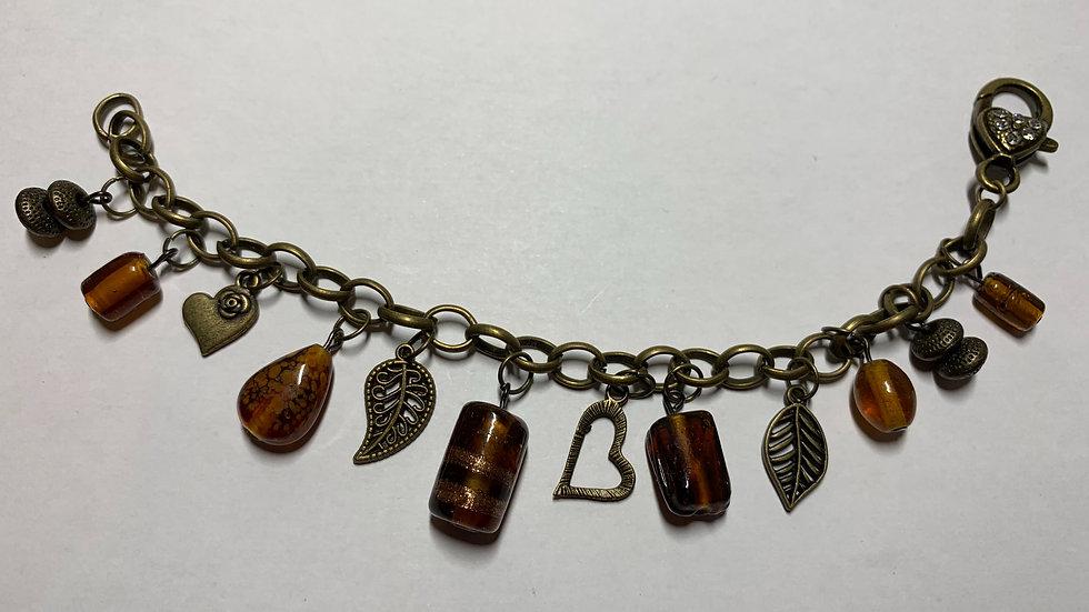 Chunky Brass Charm Bracelet