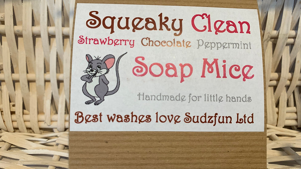 Squeaky Clean Soap Mice