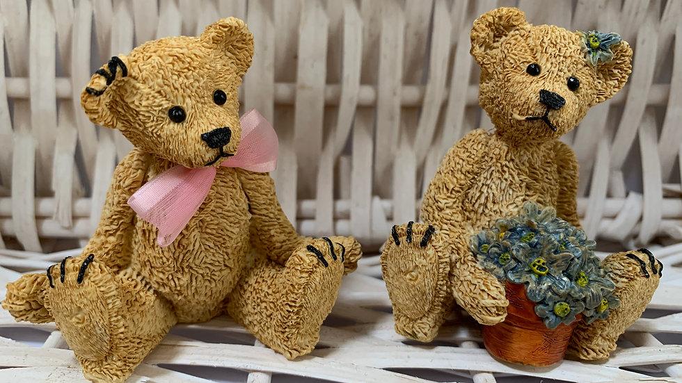 Two Teddy Bear Figurines