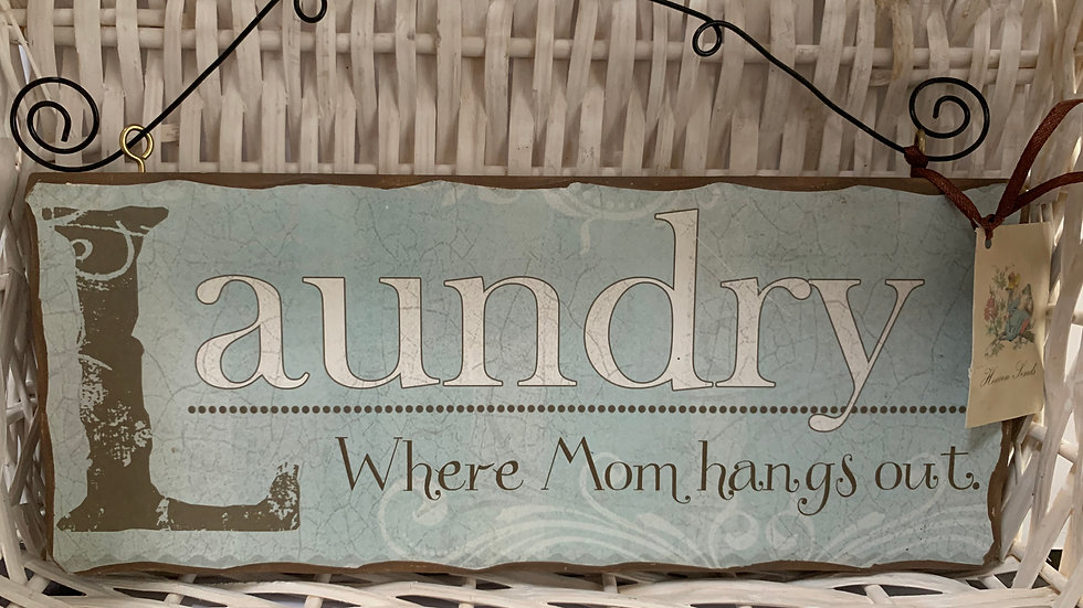 Laundry Fun Hanging Sign