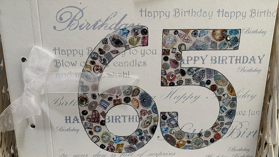 65th Birthday Scrap Book/Photos