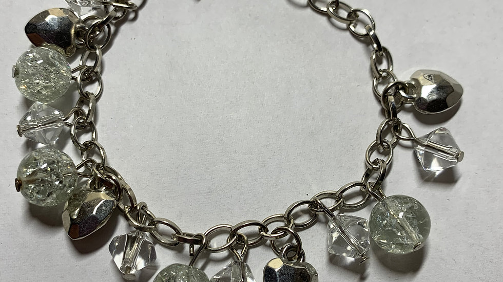 White Disco Ball Bracelet