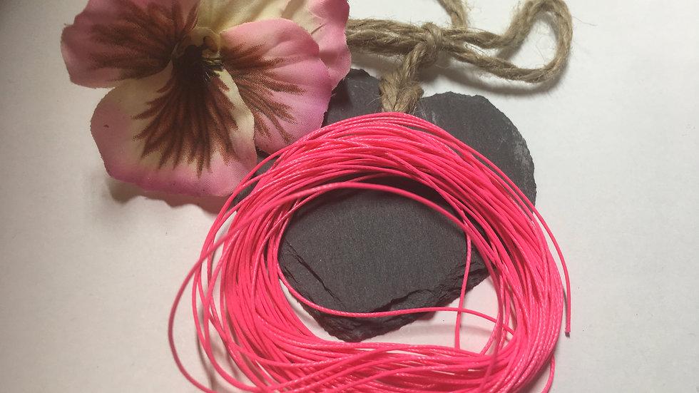 Korean Waxed Hot Pink 1mm Cord 7.5 metres
