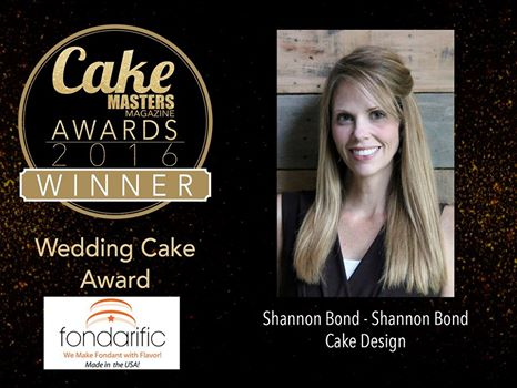 Shannon Bond Cake Master's Wedding Cake Award Winner