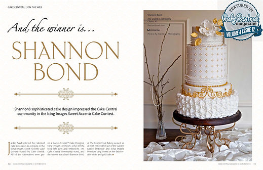Shannon Bond Cake Design Vintage Gold Wedding Cake