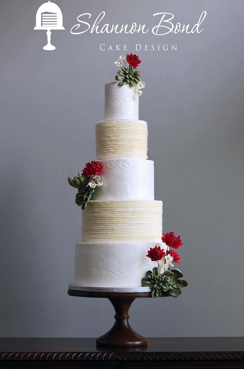 Shannon bond cake design kansas city wedding and custom cakes wood grain and ruffle wedding cake junglespirit Gallery