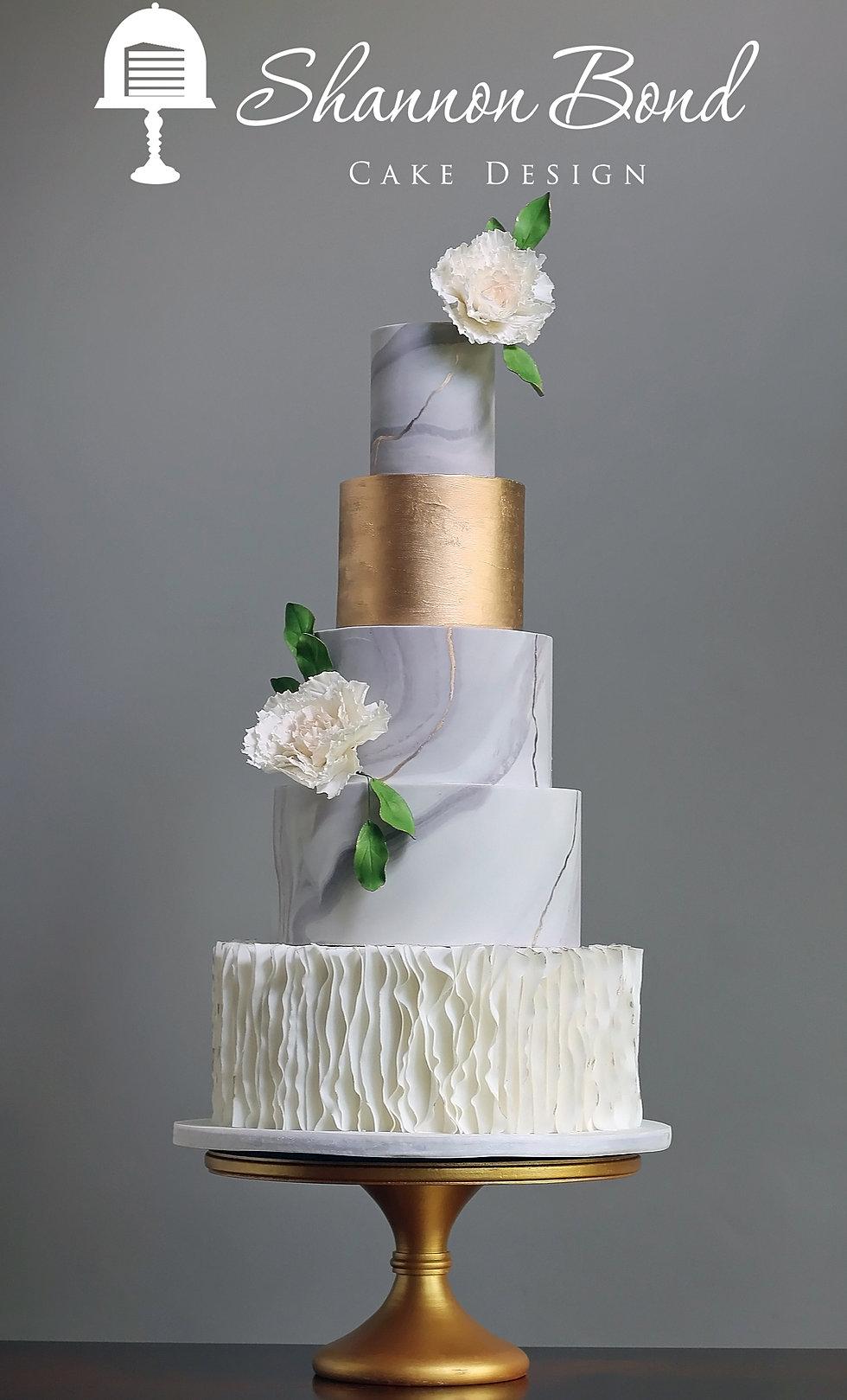 Shannon Bond Cake Design Kansas City Wedding And Custom Cakes - Gold Wedding Cakes