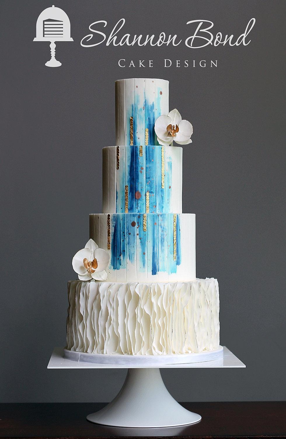 Modern Bride Wedding Cake