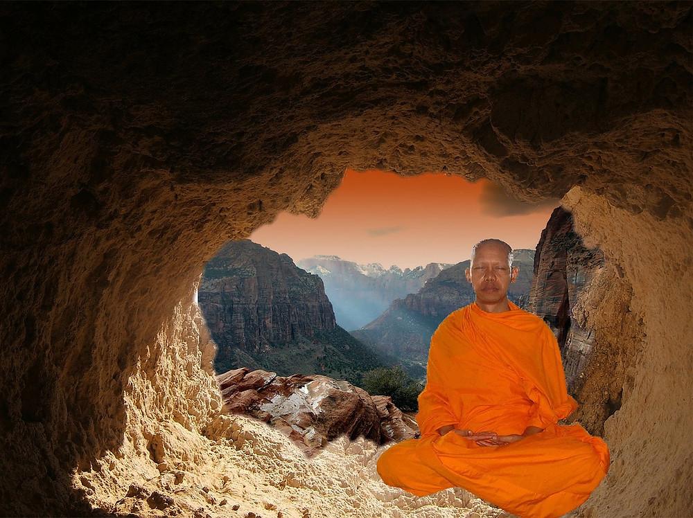 buddhist monk, focus, meditation, mindfulness