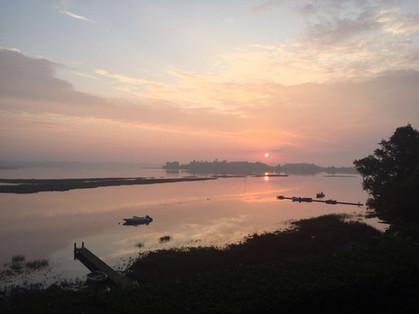 Sunrise over Iken Church