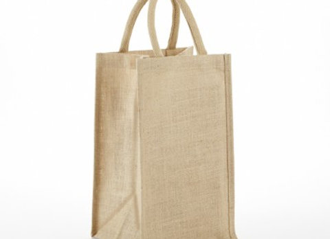 AWBS2 SOLID FRONT JUTE WINE BAG