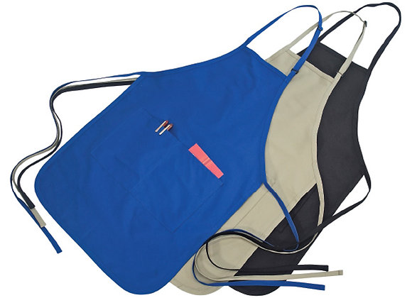 AA4300A  Poly Cotton Apron With 2 Pockets