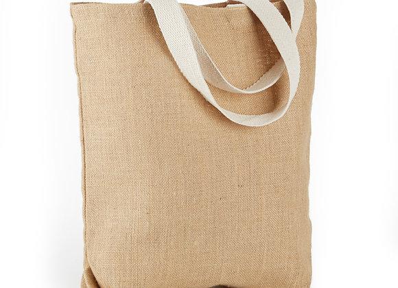 AJ904  Jute / Burlap Tote Bag With Gusset