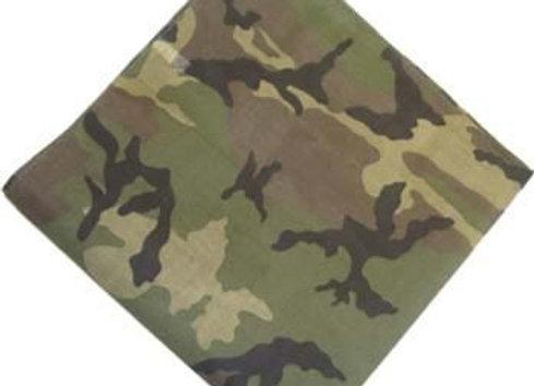 BP5202 Woodland Pattern Camouflage Bandanna