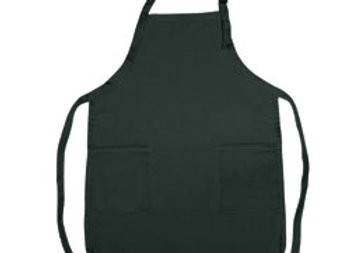 AA4300  Poly cotton full length bib apron