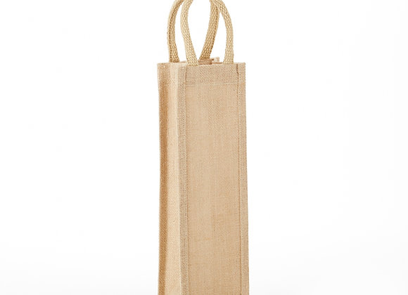 AWBS1Jute Wine Bag Solid Front