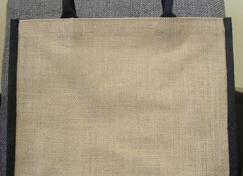 AJ913 All Natural Jute Grocery Tote with Rope Hand