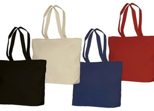 ATB6120  Heavy Cotton Canvas Zippered Tote