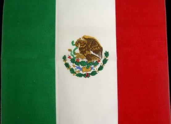 BP5201 100% Micro polyester Mexican flag.