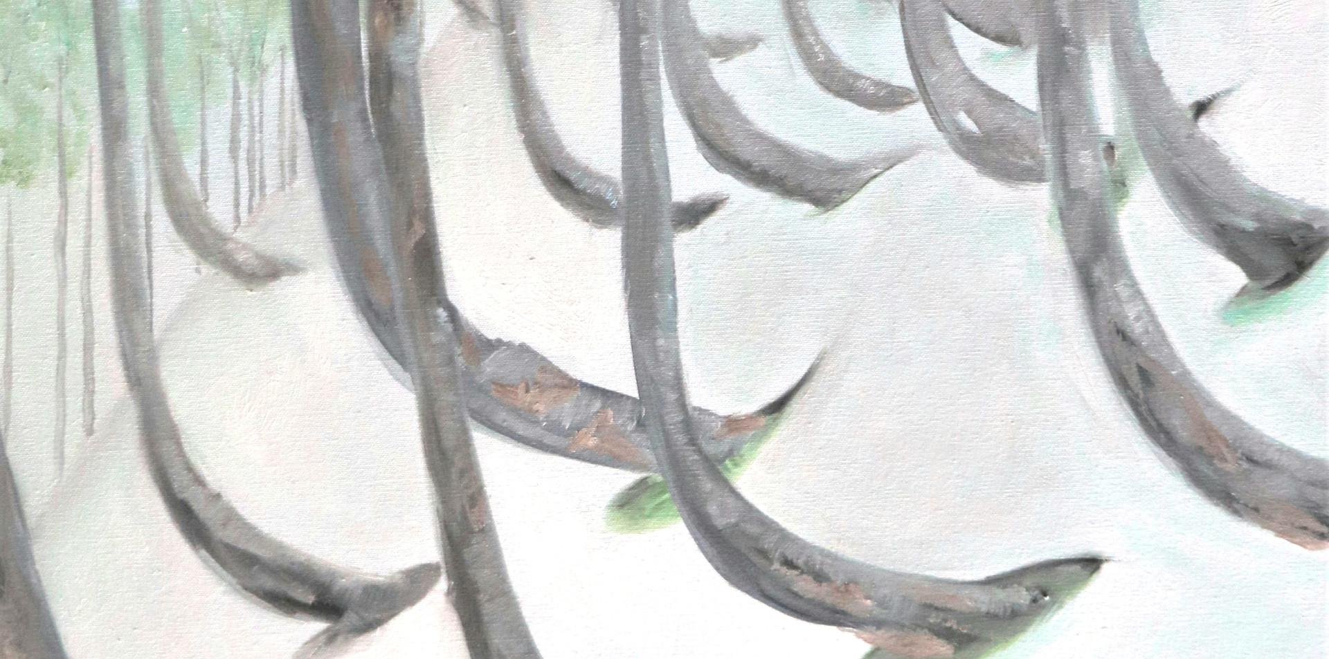 2015 - olie op doek 60 x 80 cm - Het gewicht van de sneeuw