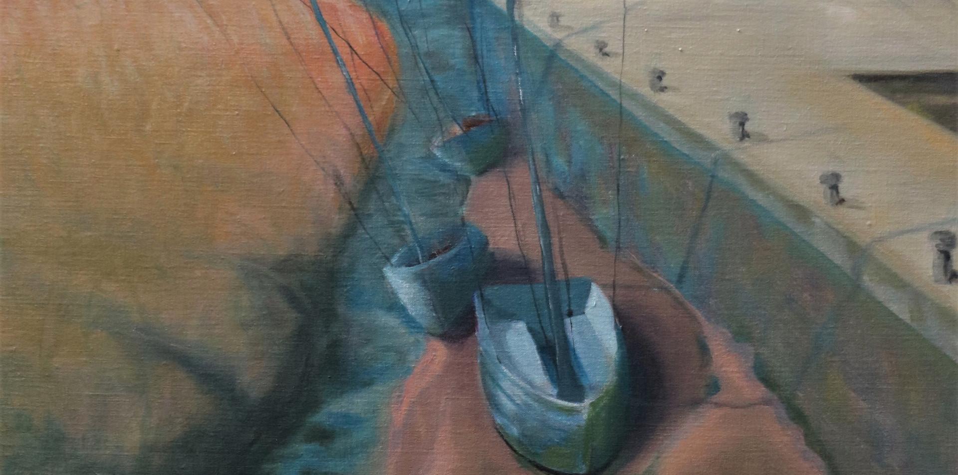 2016 - olie op doek 60 x 80 cm - De monding van de Canche
