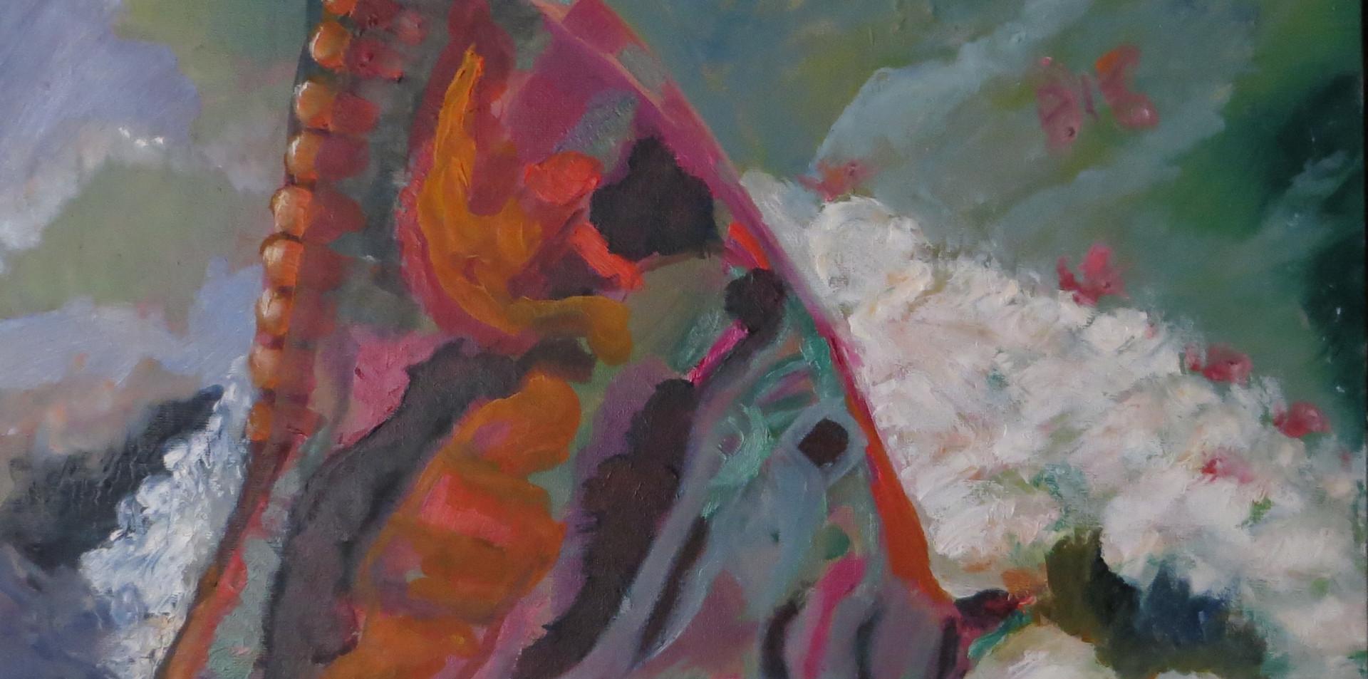 2015 - olie op canvasboard - 50 x 50 cm - Zomer