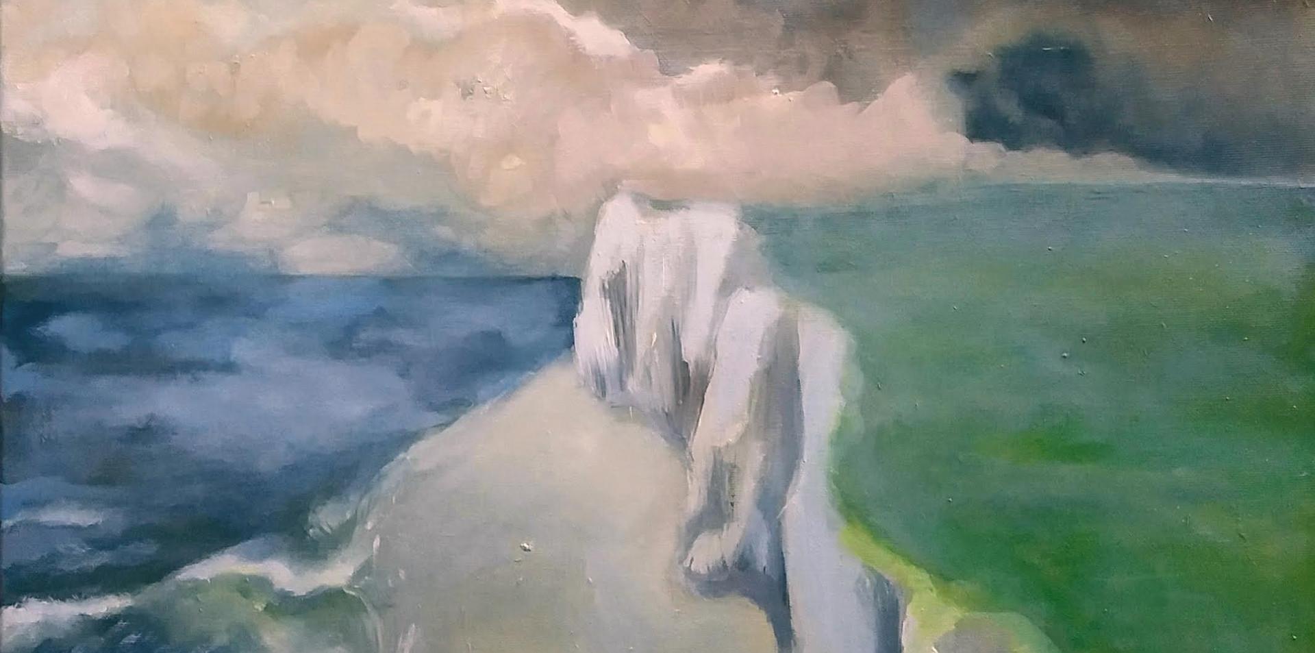 2015 - olie op doek 40 x 50 cm : de opaalkust