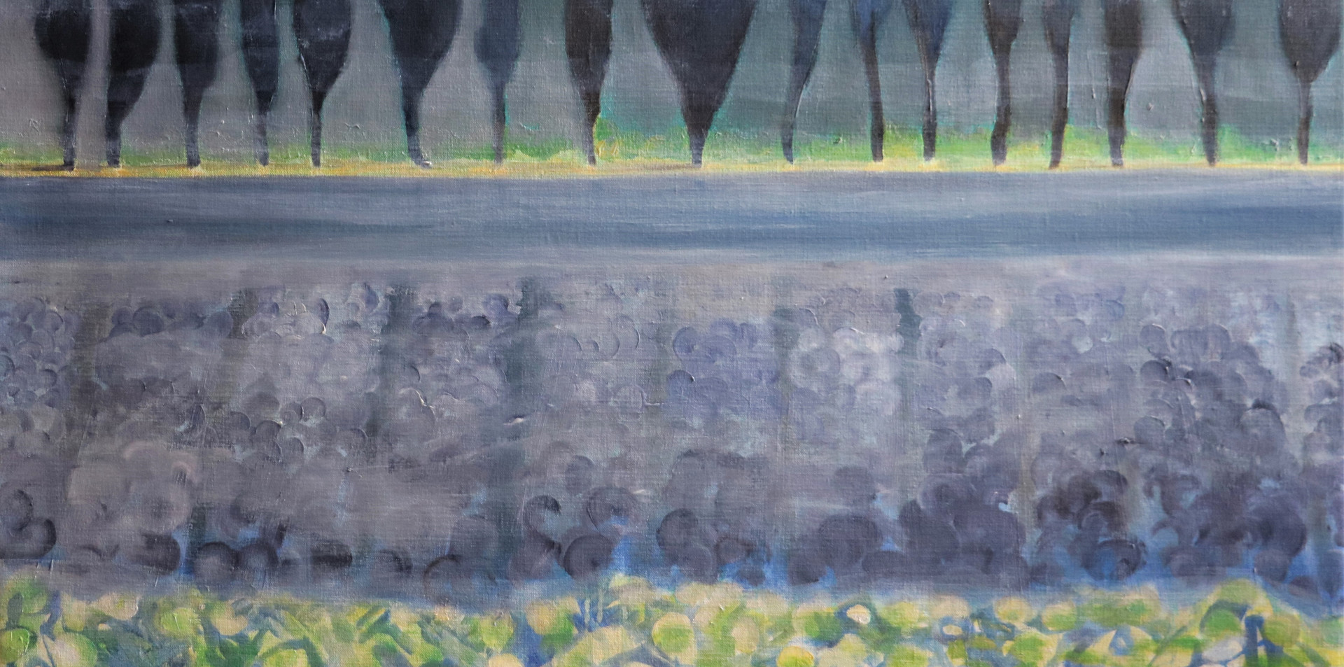 2017 - olie op doek 60 x 80 cm - Verre mist