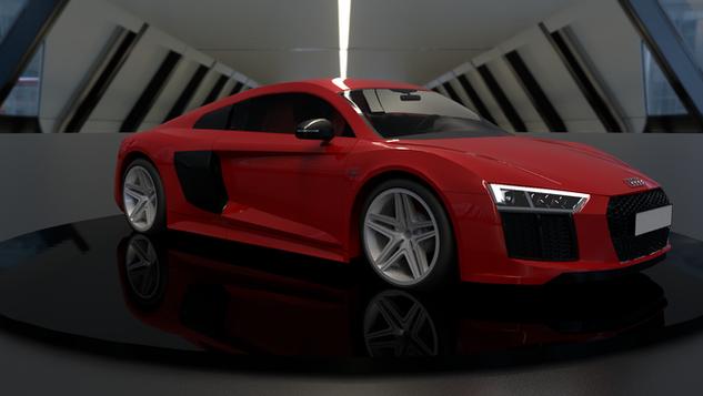 Audi R8 - Turntable