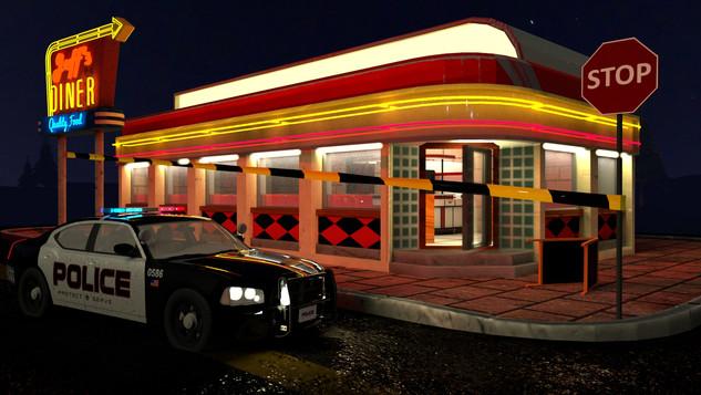 Diner Crime Scene