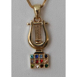 Harp of David with Hoshen stones