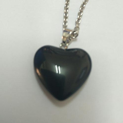Heart in black