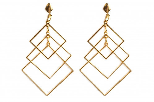 Hagar - trio squares earrings