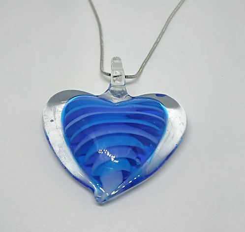 Heart with purple and blue waves