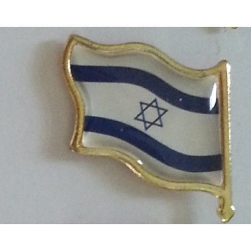 Israel flag pin