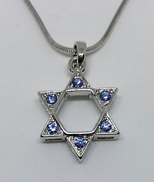 Golden/Silver Star of david with zircons