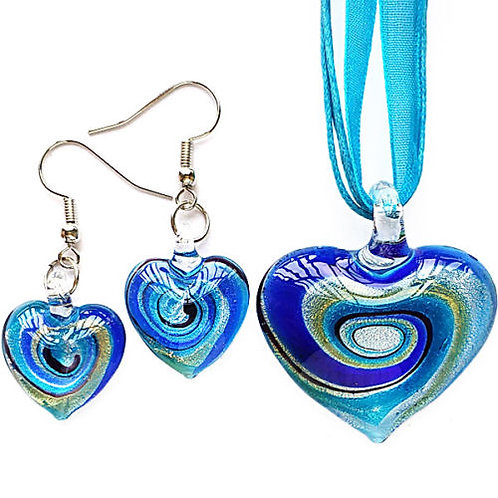 Heart Set - Necklace and Earring