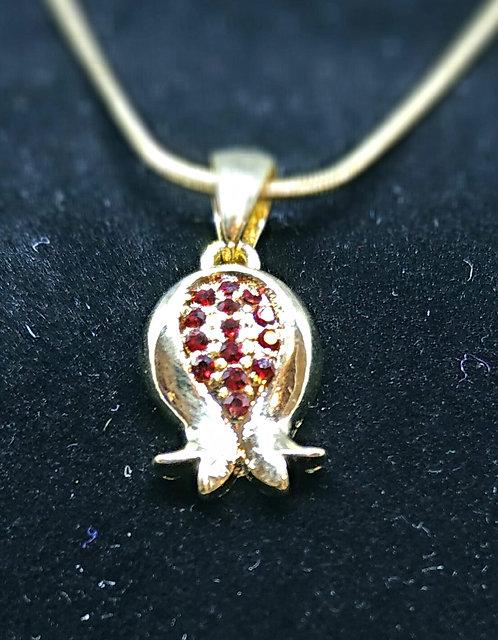 Pomegranate necklace - gold color