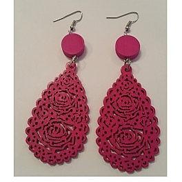 Wooden style earrings