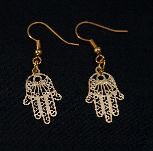 Gold Hamsah Earrings