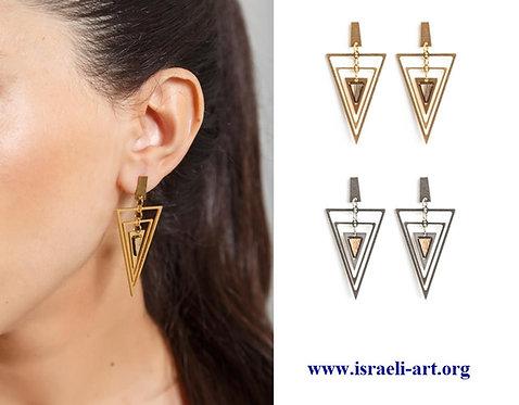 Hagar - trio triangles earrings