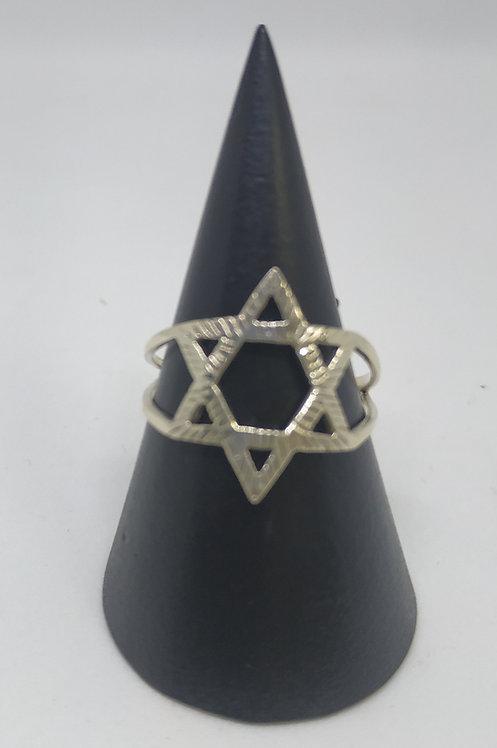 Star of David ring for women