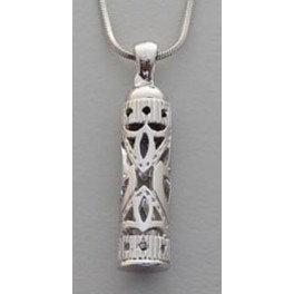 Gold/Silver Mezuzah necklace