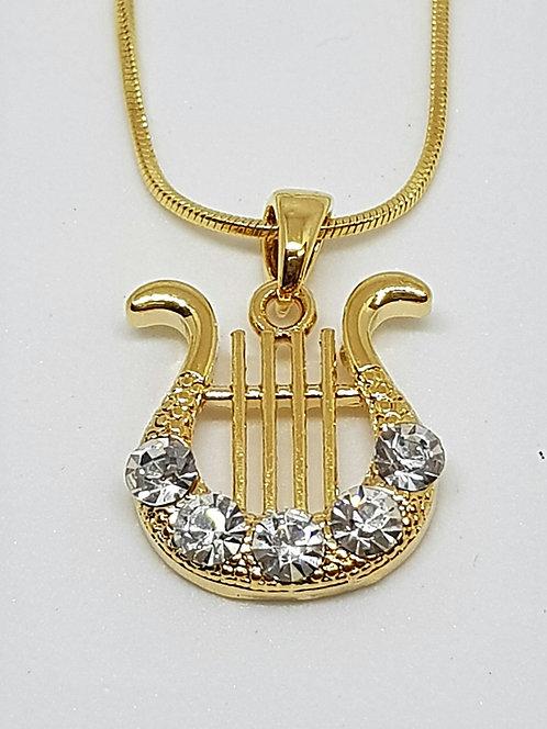 Classic Harp of David - transparent zircons